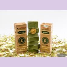 Оливковое мыло с лавровым маслом в бумажной  упаковке