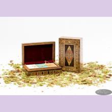"""Набор оливкового мыла в подарочной деревянной шкатулке ручной работа """"Мозаика"""""""