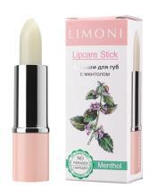 """LIMONI Бальзам для губ """"Lipcare Stick"""" тон 01-Ментол***"""